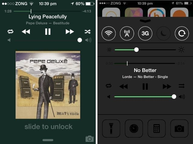 add repeat shuffle buttons to lock-screen