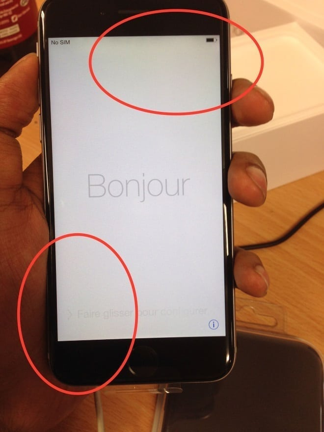 iphone 6 screen yellow tint