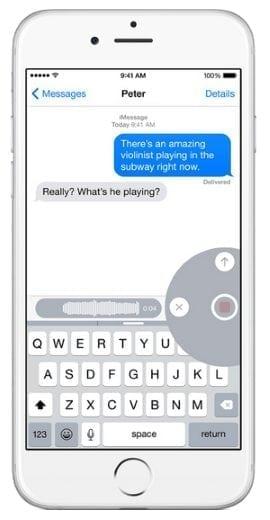 self destructing messages ios 8 voice messages