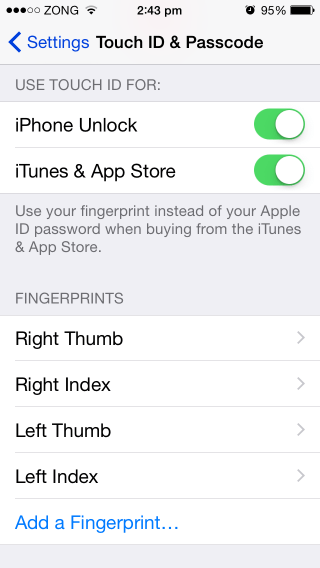 improve touch id accuracy by adding sweaty oily fingerprints