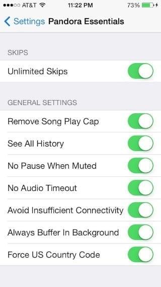 pandora essentials iphone