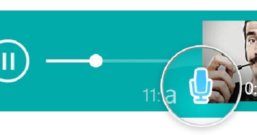 whatsapp blue microphone