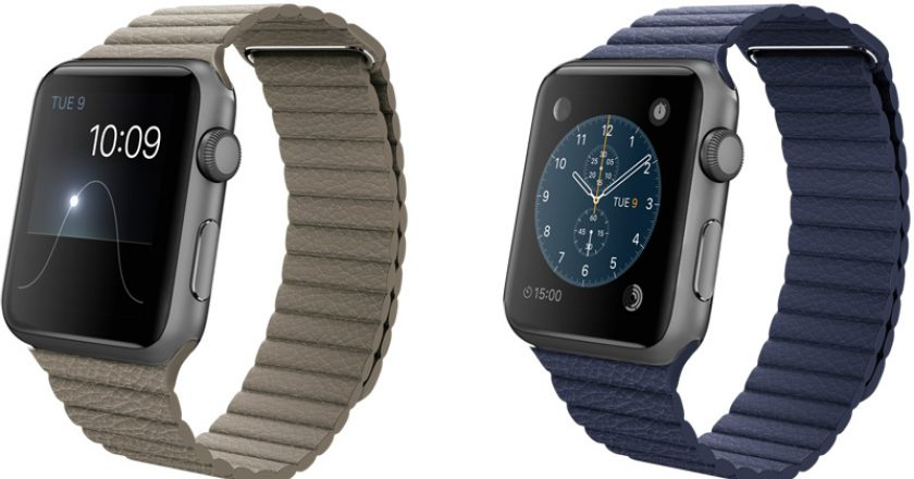 apple watch sport with leather band