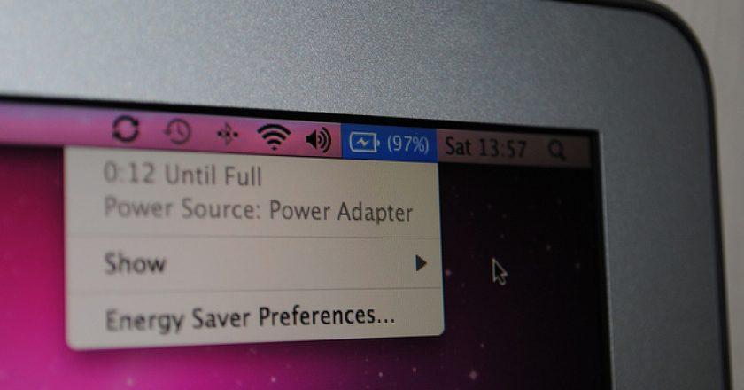 macbook air battery level