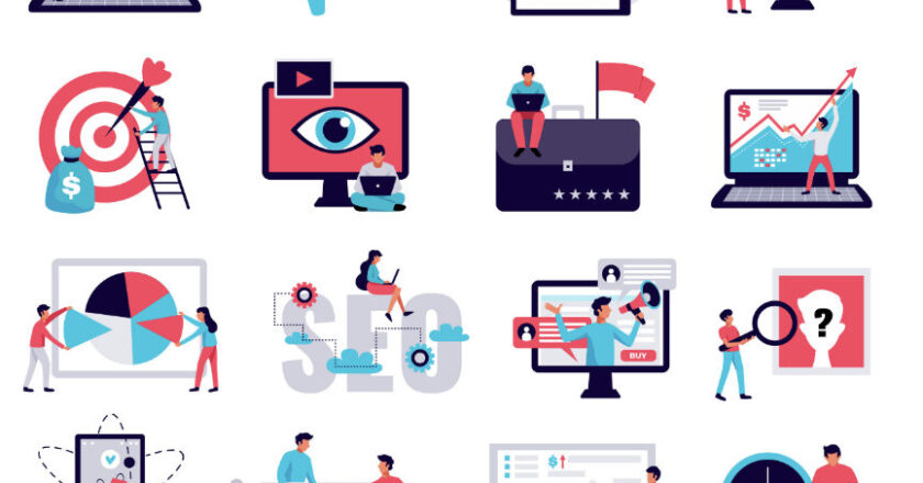 16 ICONS Representing Digital Marketing