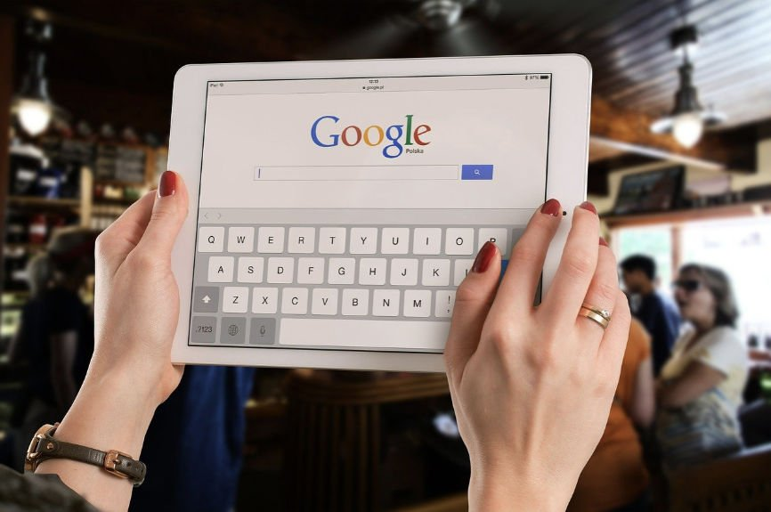Google Search Page on an iPad