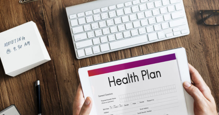Health plan displayed on tablet, Healthcare Market Research, medical equipment