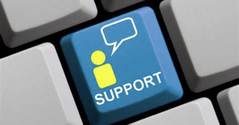 """Key on keyboard labeled """"Support"""""""