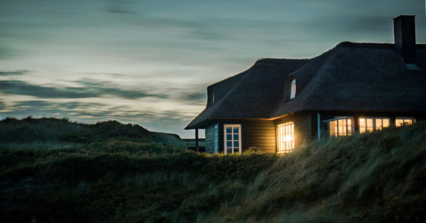 Home at sunset