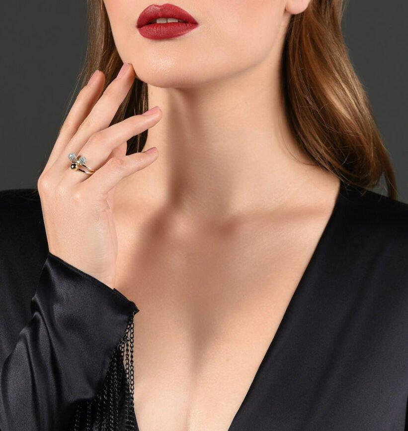 Woman posing neckline