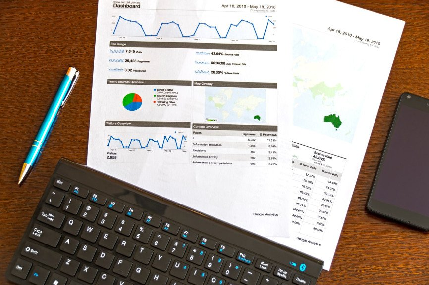 Graphs and charts for outsourcing sales