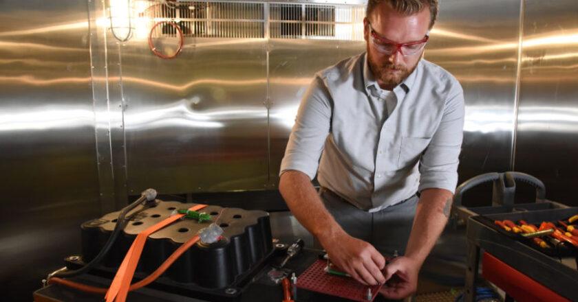 Man. Testing Large Battery