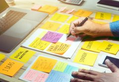 Organizing content with Post-It notes