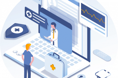Abstract illustration for telemedicine
