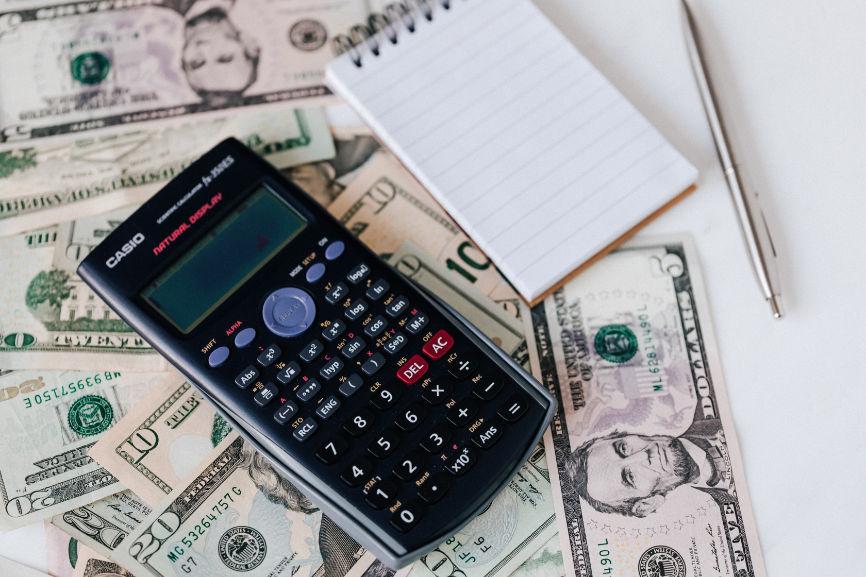 Calculator, Note pad, Money