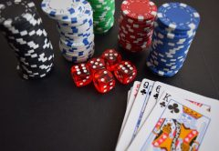 Poker Chips, Dice, Playing Cards